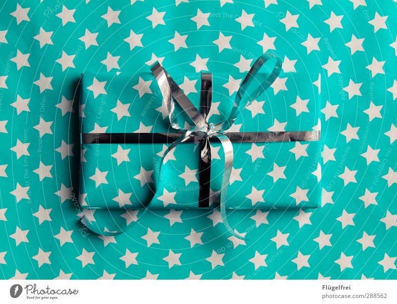 Mit Liebe verpackt Weihnachten & Advent Feste & Feiern Stern ästhetisch Geschenk Kitsch türkis Überraschung silber Vorfreude Verpackung Schleife Tarnung