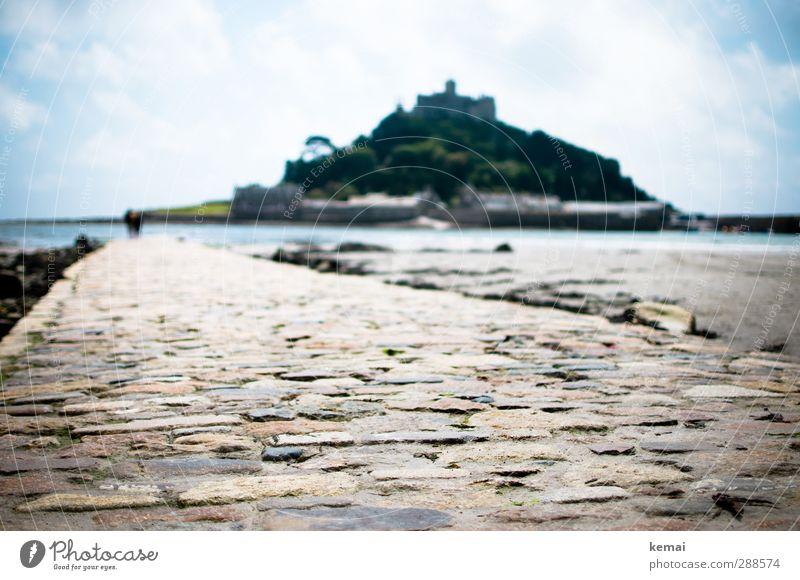 Der Weg ist weg Ferien & Urlaub & Reisen Tourismus Ausflug Abenteuer England Cornwall St. Michael's Mount Umwelt Natur Landschaft Urelemente Wasser Himmel
