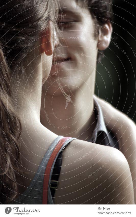 confidence Mensch Jugendliche schön ruhig Gesicht Erwachsene Liebe feminin Gefühle lachen Glück 18-30 Jahre Paar Freundschaft Zusammensein Haut