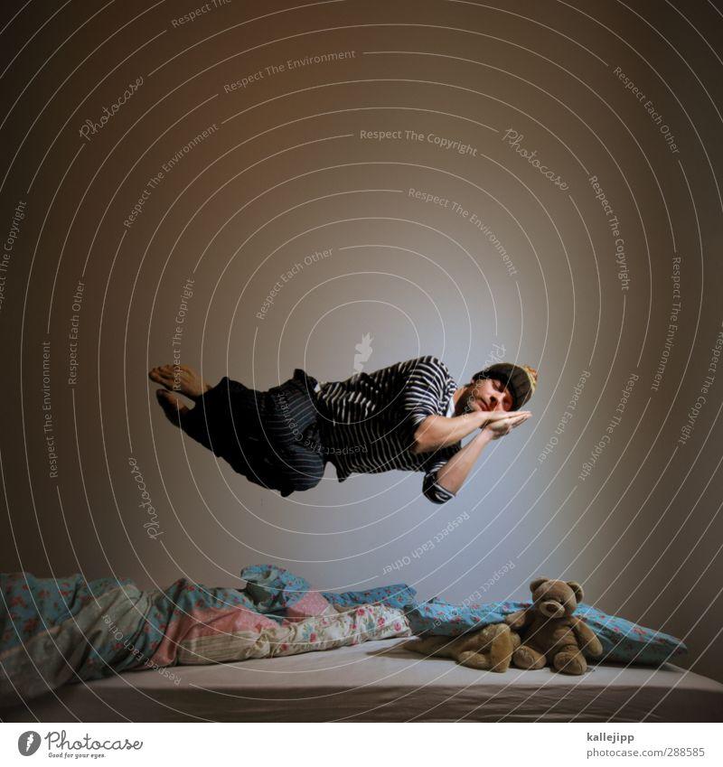 traum vom fliegen Lifestyle Gesundheit Wellness harmonisch Wohlgefühl Zufriedenheit Erholung ruhig Meditation Häusliches Leben Wohnung Bett Schlafzimmer Fliege