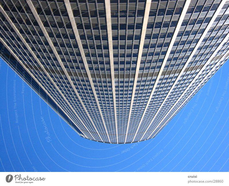 Paris von unten Himmel blau Architektur Glas Hochhaus Perspektive Niveau Paris Frankreich Größe Schwindelgefühl