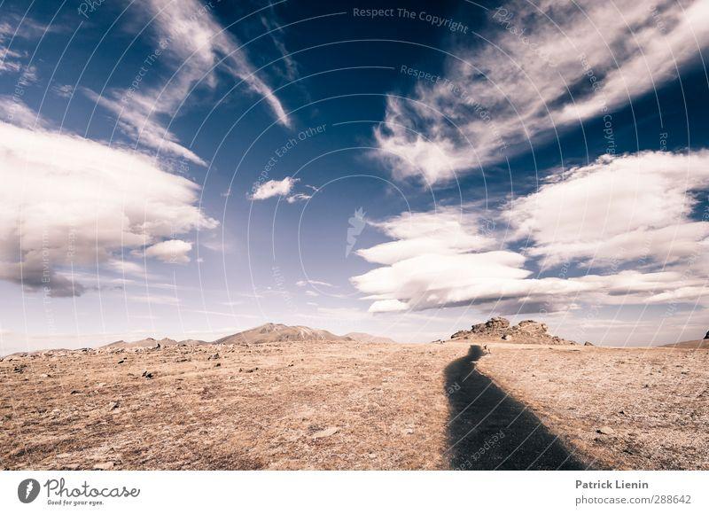 Time has told me Umwelt Natur Landschaft Urelemente Luft Himmel Wolken Klima Klimawandel Wetter Schönes Wetter Wind Berge u. Gebirge Gipfel Wüste Abenteuer