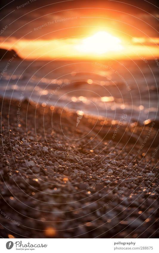 ab jetzt wird es kälter Himmel Natur Ferien & Urlaub & Reisen Sommer Meer Strand Wolken ruhig Landschaft Ferne Umwelt Freiheit Küste Sand Stein Horizont