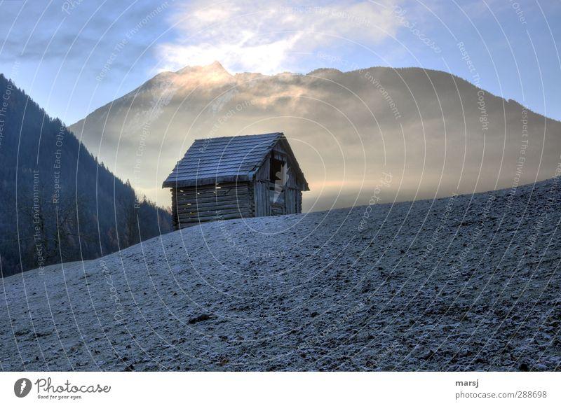 Heute ist es bitterkalt Himmel Natur blau Stadt Winter Landschaft Haus dunkel Wiese Berge u. Gebirge Schnee Herbst Gras Frühling
