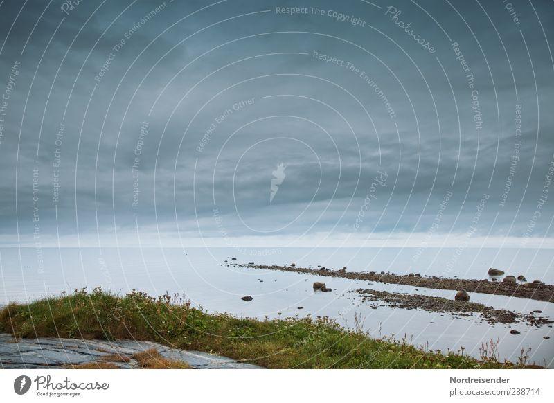 Barentssee Sinnesorgane Erholung ruhig Ferne Freiheit Meer Natur Landschaft Urelemente Wolken Gewitterwolken Klima Wetter schlechtes Wetter Küste Wasser dunkel