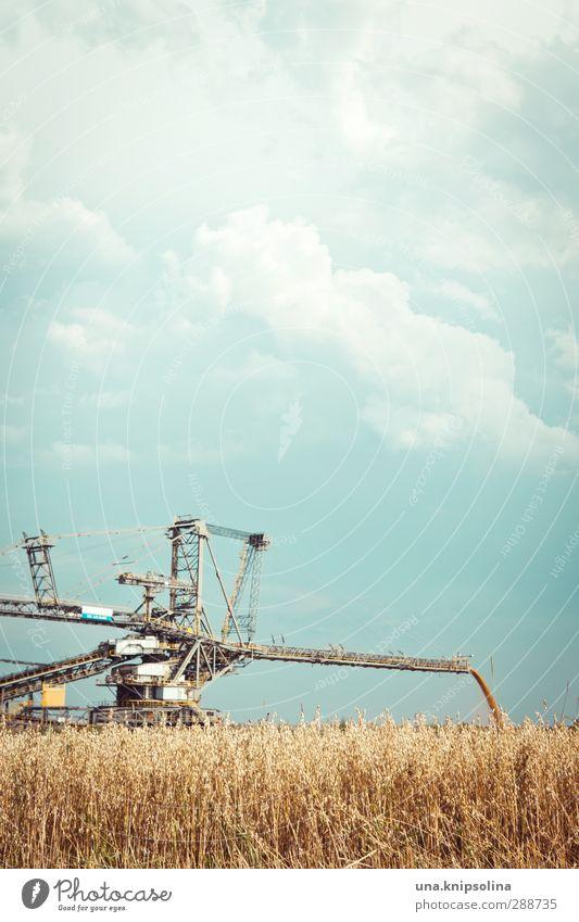 müslifabrik Natur Stadt Wolken Landschaft Umwelt außergewöhnlich Feld Wandel & Veränderung bedrohlich fallen Getreide Maschine Zerstörung Nutzpflanze