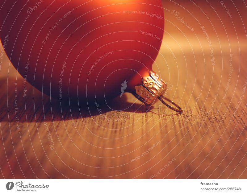 Kugel Weihnachten & Advent schön rot ruhig Holz Feste & Feiern braun gold Wohnung glänzend Glas elegant Gold Design Dekoration & Verzierung ästhetisch