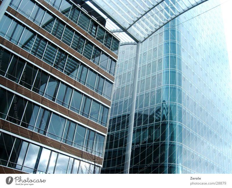 Hochhäuser Glas Hochhaus Perspektive neu Anschnitt