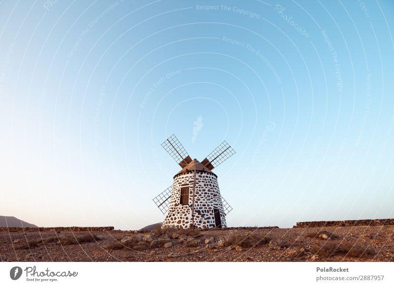 #A# Mühle Mühle Mühle! Umwelt Wind ästhetisch Spanien Fuerteventura Windmühle Windmühlenflügel Bauwerk Tradition mediterran Farbfoto Gedeckte Farben