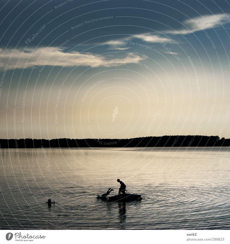 Insulaner Freude Glück Freizeit & Hobby Spielen Kind 4 Mensch 8-13 Jahre Kindheit Umwelt Natur Wasser Himmel Wolken Horizont Sommer Klima Wetter Schönes Wetter