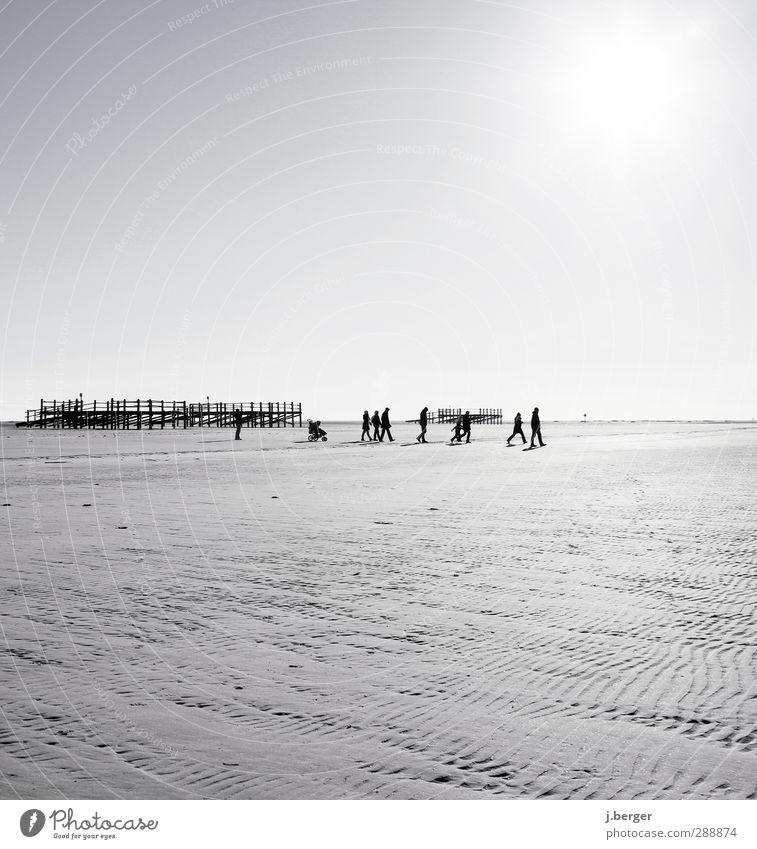 tag am meer Ferien & Urlaub & Reisen Tourismus Ausflug Ferne Freiheit Strand Familie & Verwandtschaft Menschengruppe Umwelt Natur Landschaft Sand