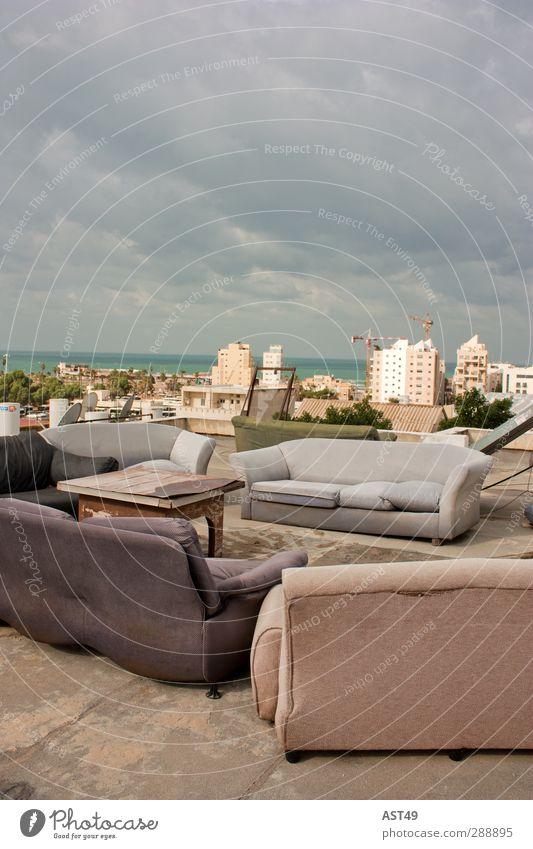 Auf den Dächern von Tel Aviv Lifestyle Freude Ferien & Urlaub & Reisen Abenteuer Freiheit Sommer Meer Dach Israel Stadt Skyline Hochhaus Gebäude Erholung trendy