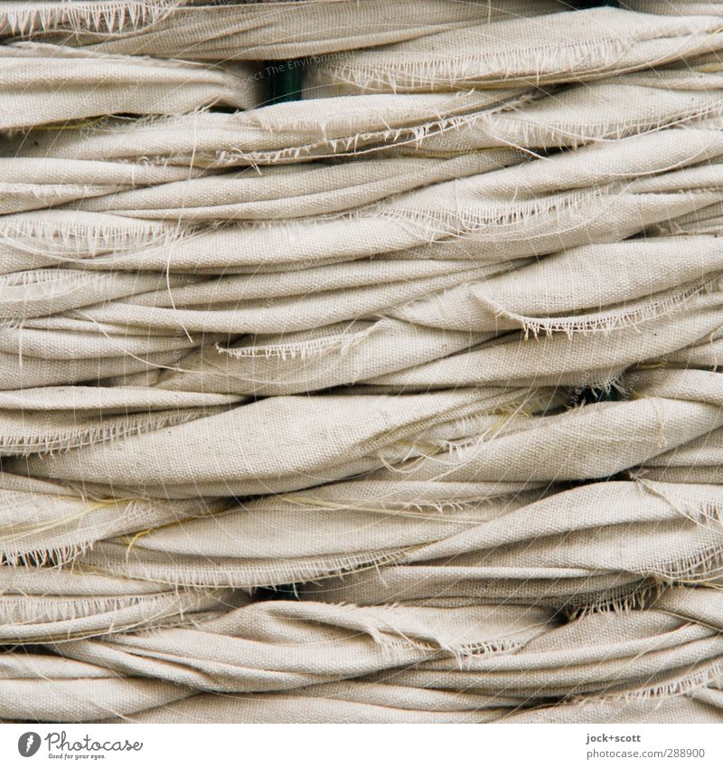 Flechtwerk im Quadrat Handarbeit binden Dekoration & Verzierung Streifen authentisch einfach braun Ordnungsliebe Kreativität Wandel & Veränderung Zusammenhalt
