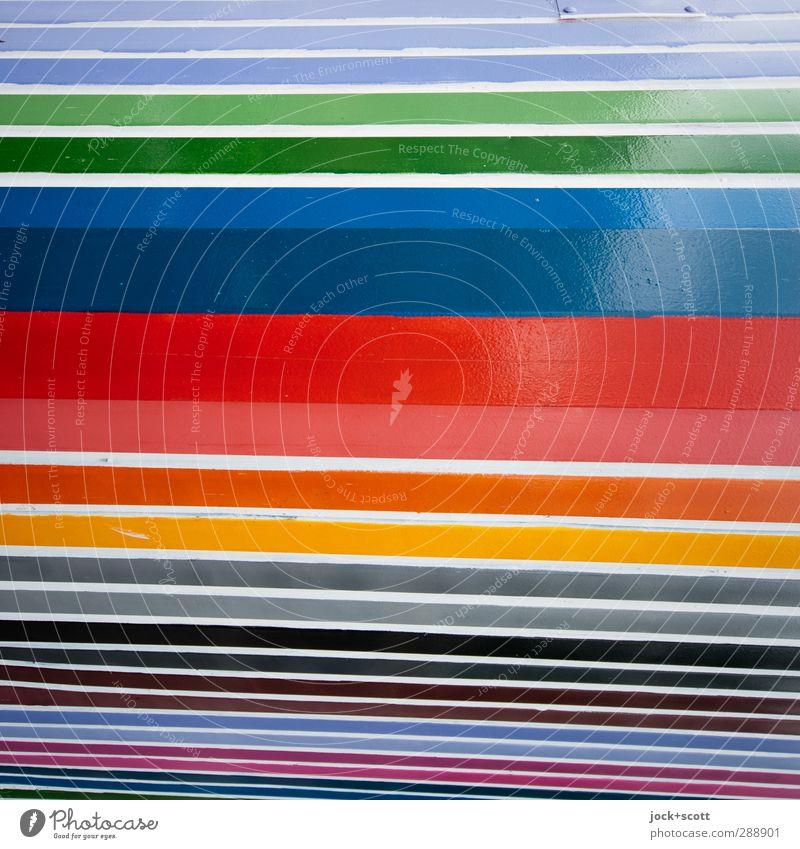 Streifenhaft im Quadrat Stil Design Wand Ecke Dekoration & Verzierung Metall Linie ästhetisch Kreativität Symmetrie Wandel & Veränderung Lack Verschiedenheit