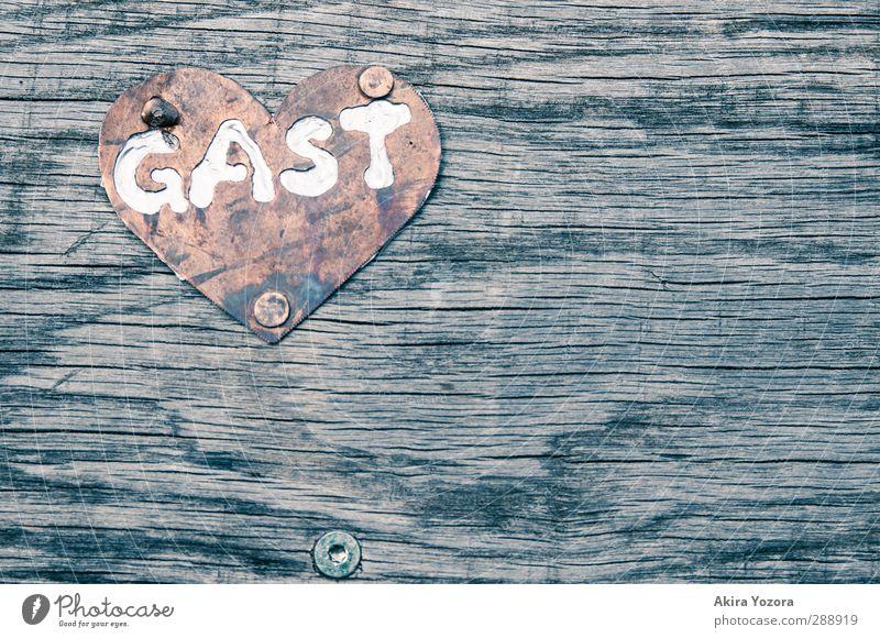 Herzlich Willkommen. Gast Holz Metall Buchstaben Begrüßung Empfang Rezeption Freundlichkeit