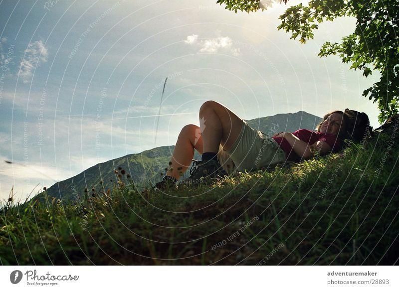 Lila Pause Himmel Sommer Spielen Berge u. Gebirge Europa Pause Alpen Österreich Bergsteigen Alm Klettern