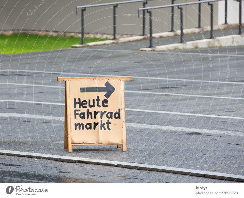 Gebrauchte Fahrräder kaufen sparen Freizeit & Hobby Fahrradfahren Fußweg Fahrradweg Schriftzeichen Hinweisschild Warnschild Pfeil verkaufen authentisch