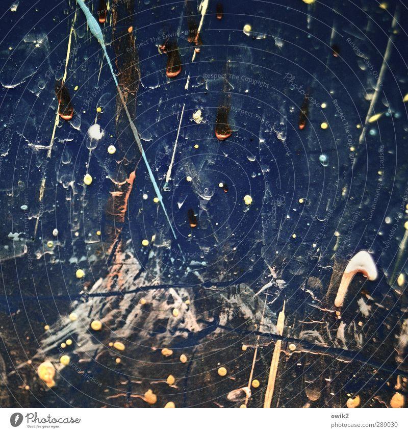 Sternschnuppen Kunst Kunstwerk Gemälde Dekoration & Verzierung Kunststoff Graffiti fliegen glänzend Jagd trashig viele verrückt blau schwarz weiß chaotisch