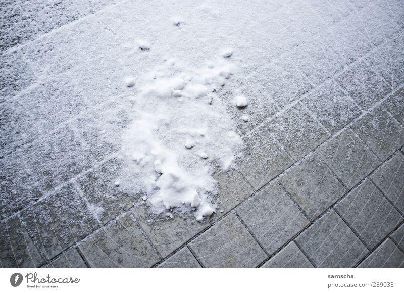 Zuckerguss Winter Klima Eis Frost Schnee Schneefall Stadt Platz Terrasse Wege & Pfade kalt Schneedecke Schneesturm weiß Bodenplatten Bodenbelag Kaltfront