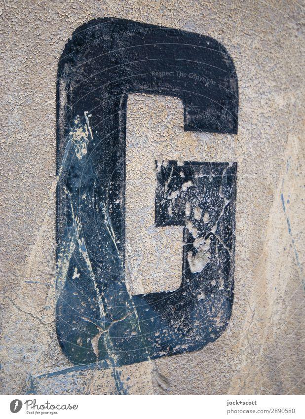 G verwittert 7 13 Stil Design Zeichen Schilder & Markierungen alt eckig einfach historisch schwarz standhaft ästhetisch Inspiration Perspektive Symmetrie