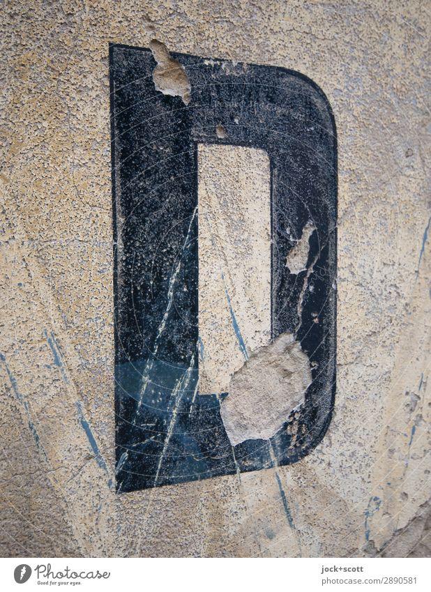 D verwittert 4 8 Stil Design Schriftzeichen Schilder & Markierungen alt authentisch einfach retro grau schwarz Perspektive Symmetrie Verfall Vergangenheit