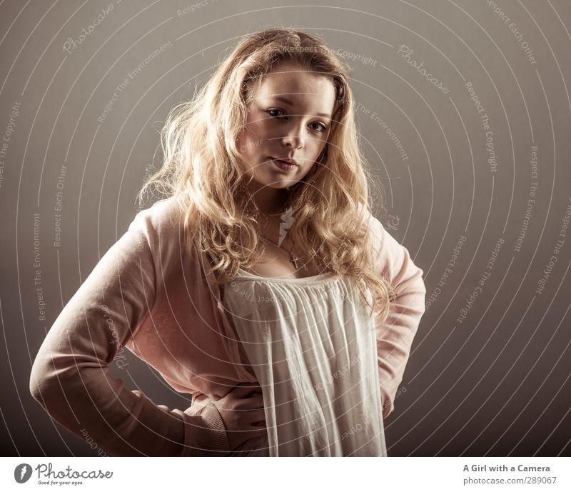 kommt ihr nur Mensch Kind Jugendliche schön Junge Frau feminin Haare & Frisuren Kopf 13-18 Jahre blond Fröhlichkeit einzigartig weich Coolness langhaarig Locken