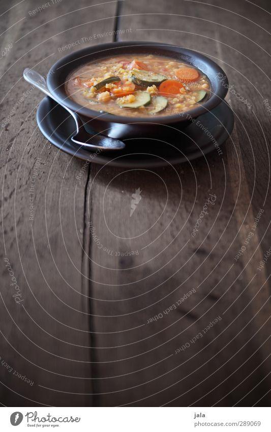 abendessen natürlich Lebensmittel Ernährung Gemüse Appetit & Hunger lecker Geschirr Bioprodukte Teller Abendessen Schalen & Schüsseln Mittagessen Löffel Vegetarische Ernährung Holztisch Suppe