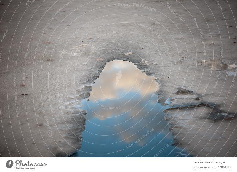 heavens door Himmel Natur blau Wasser Einsamkeit Winter Ferne dunkel kalt Tod oben grau Traurigkeit Eis nass trist