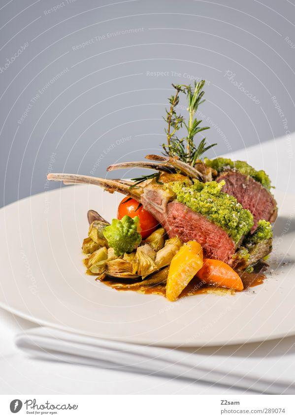 Lecker Lamm Stil Gesundheit natürlich Lebensmittel elegant Ordnung modern frisch Design Ernährung ästhetisch Sauberkeit genießen Foodfotografie rein Gemüse