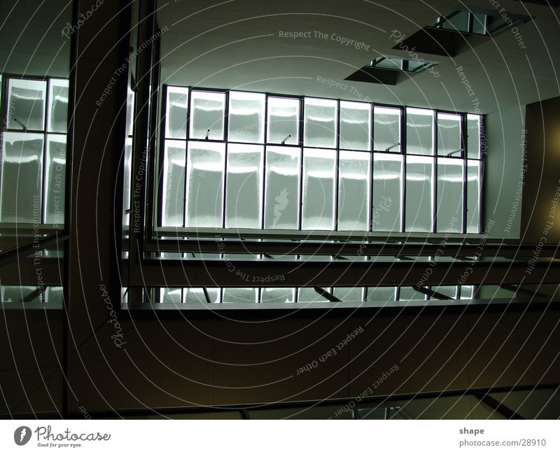 floor_01 weiß schwarz dunkel Fenster hell Architektur Glas Dach Geländer