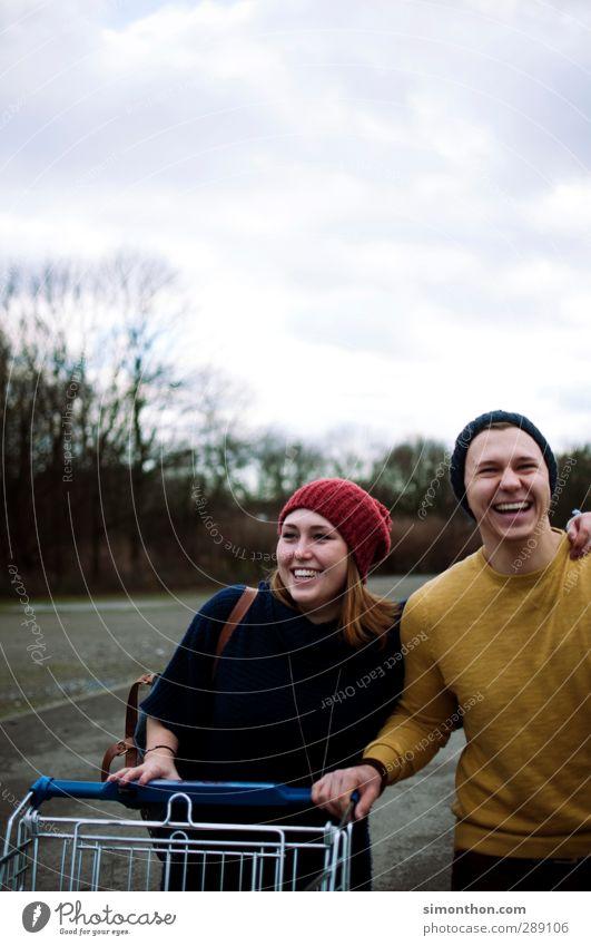 lachen kaufen Stil Junge Frau Jugendliche Junger Mann Geschwister Familie & Verwandtschaft Freundschaft Paar Partner Leben 2 Mensch 18-30 Jahre Erwachsene