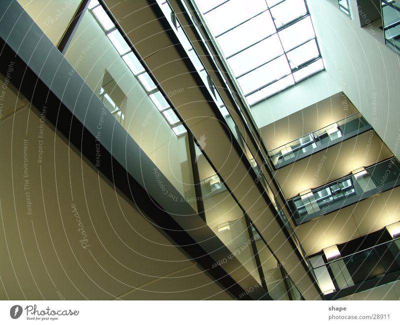 stockwerk_01 Himmel dunkel Gebäude hell Architektur Glas Horizont hoch Perspektive Dach Etage Geländer