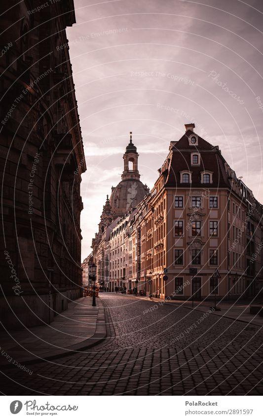 #A# Dresdner Frühling I Kunst ästhetisch Dresden Altstadt Frauenkirche Sachsen Hauptstadt Gasse historisch Historische Bauten Farbfoto Gedeckte Farben