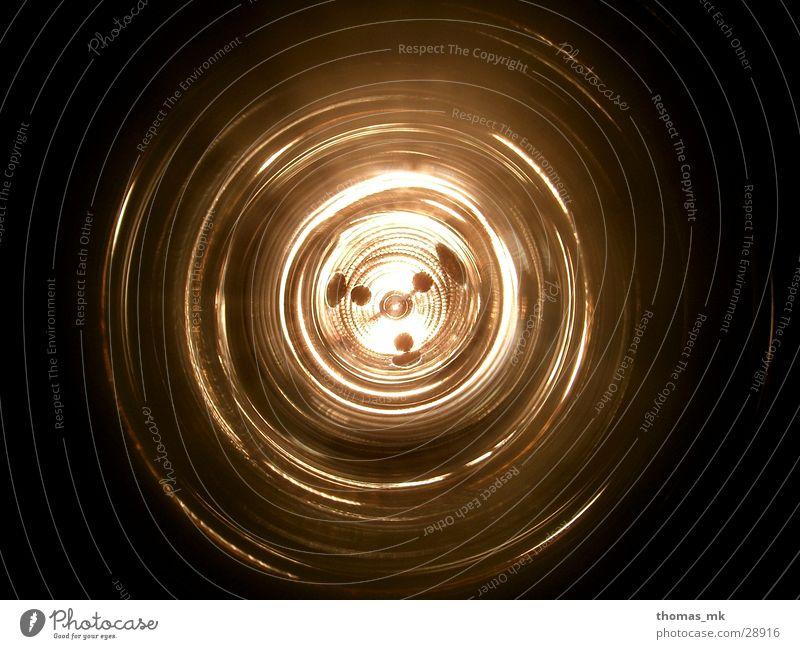 Lampentunnel schwarz dunkel Kreis rund Tunnel obskur Acryl
