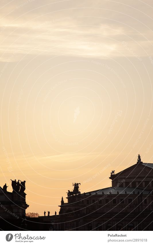 #A# Semperdach Kunst ästhetisch Dresden Semperoper Sachsen Altstadt Kultur Kulturlandschaft Kulturdenkmal Kulturvolk Farbfoto Gedeckte Farben Außenaufnahme
