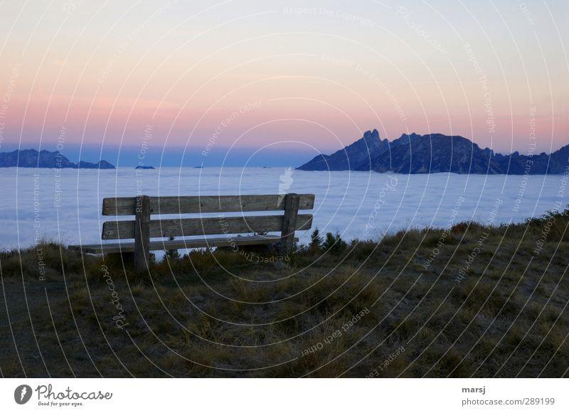Erste Reihe Fußfrei III Tourismus Ausflug Ferne Freiheit Berge u. Gebirge Natur Landschaft Himmel Wolkenloser Himmel Sonnenaufgang Sonnenuntergang Frühling