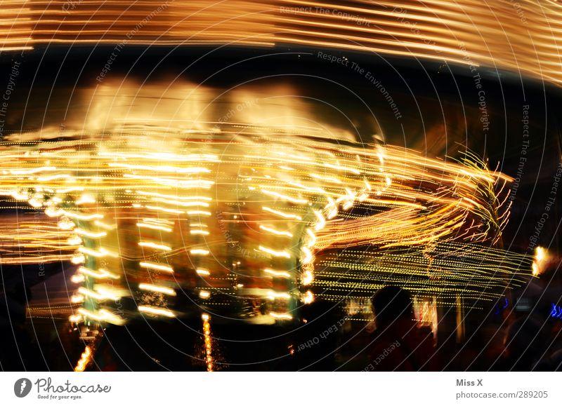 Trip- Feste & Feiern Weihnachten & Advent Jahrmarkt Menschenmenge leuchten Geschwindigkeit mehrfarbig Eile Karussell Weihnachtsmarkt Lichterkette Beleuchtung