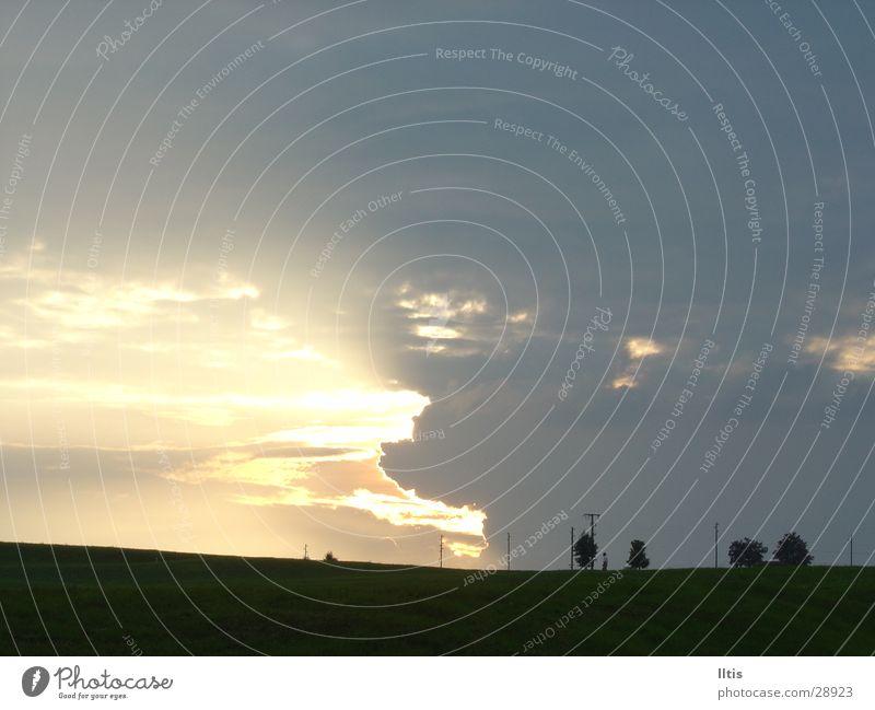 Abendstimmung 2 Himmel Baum Sonne Wolken