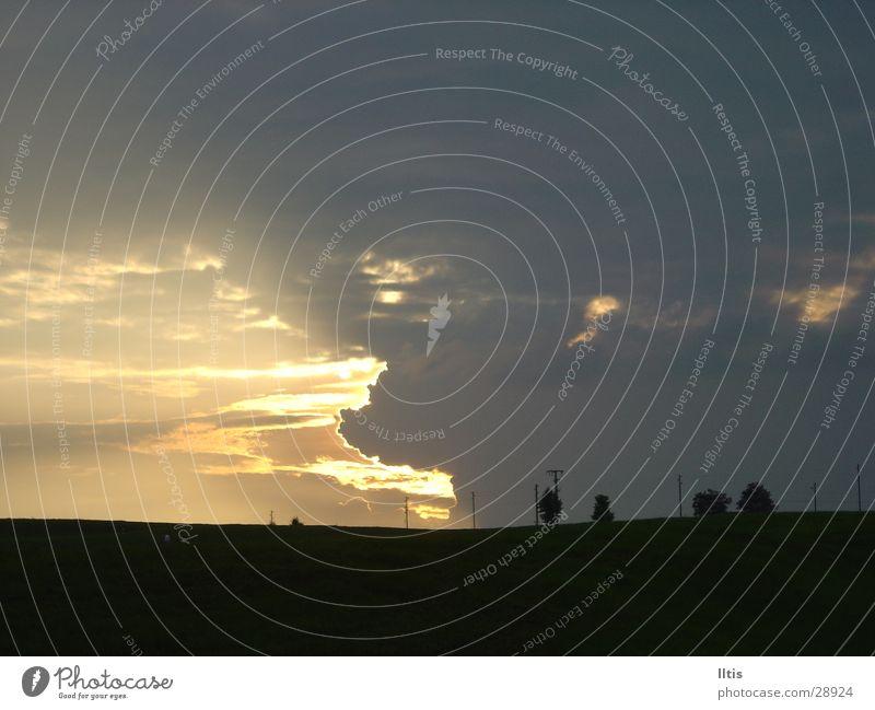 Abendstimmung Himmel Baum Sonne Wolken