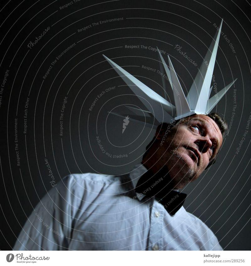 nur in meinem kopf Mensch maskulin Haut Kopf Haare & Frisuren Gesicht Auge 1 30-45 Jahre Erwachsene Denken Idee Kopfschmerzen Stachel Explosion Hemd Phantasie