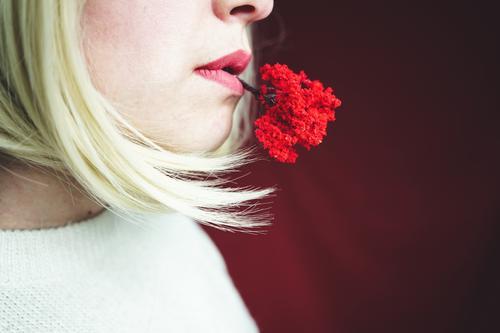 Frau Mensch Natur rot Baum Gesicht Erwachsene Herbst Umwelt Kunst Design Wachstum authentisch einzigartig Beautyfotografie Umweltschutz