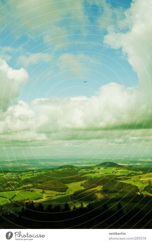 Wasserkuppe Himmel Natur Ferien & Urlaub & Reisen Sommer Pflanze Freude Wolken Landschaft Wald Umwelt Wiese Berge u. Gebirge Garten Horizont Park Wetter