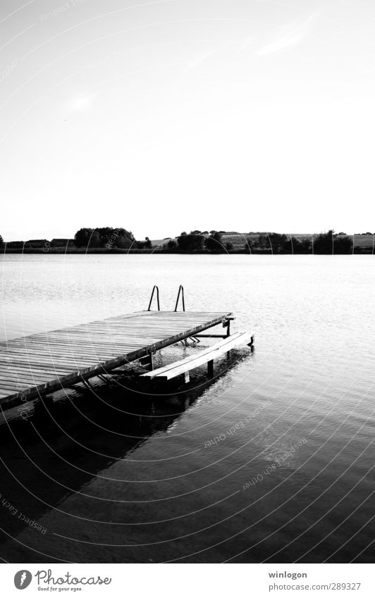 am wasser Ferien & Urlaub & Reisen alt Wasser weiß Sommer Einsamkeit Landschaft schwarz Ferne Küste Schwimmen & Baden Horizont Insel schlafen Fisch Fluss