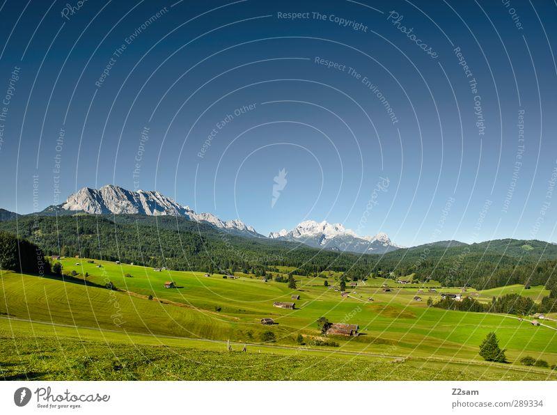 Walgau Natur blau Ferien & Urlaub & Reisen grün Sommer Landschaft Erholung Umwelt Wiese Berge u. Gebirge Horizont natürlich Freizeit & Hobby wandern Schönes Wetter Idylle