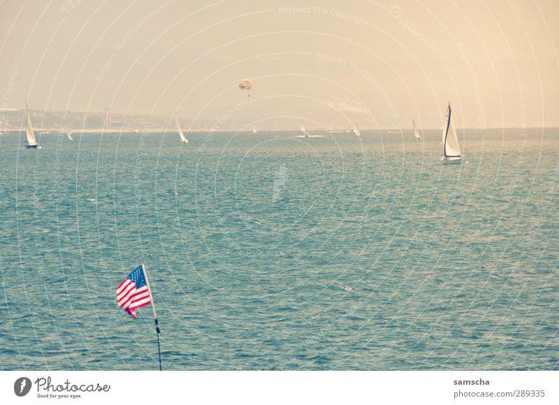 Land der Freiheit Himmel Natur Ferien & Urlaub & Reisen Wasser schön Sommer Meer Ferne Umwelt Küste Horizont Wellen Wind Tourismus Abenteuer