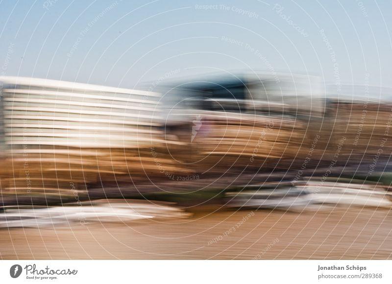 wuschhh Bewegung Gebäude Geschwindigkeit Streifen Bauwerk London England Großbritannien Themse verschwimmen Geschwindigkeitsrausch