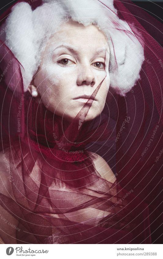 pudel elegant Stil Design schön Haare & Frisuren Schminke Frau Erwachsene 1 Mensch 18-30 Jahre Jugendliche weißhaarig Perücke beobachten Denken außergewöhnlich