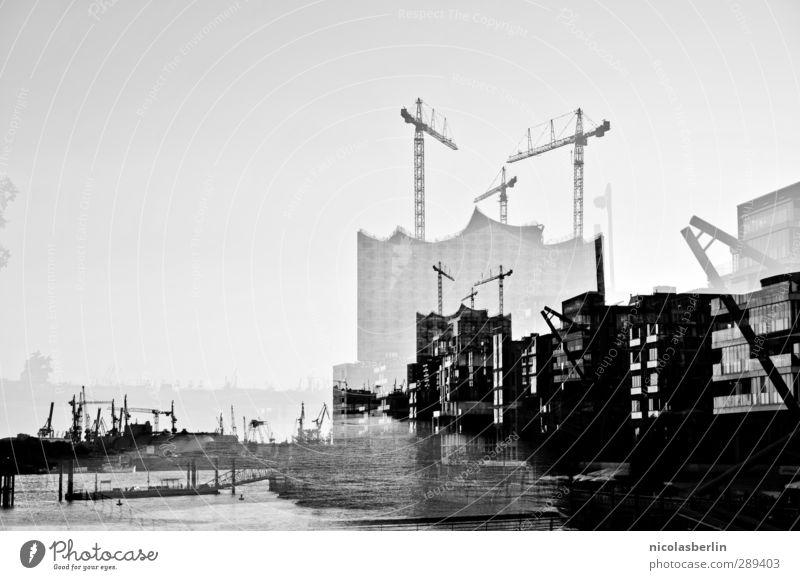 SCHRILLES, BUNTES HAMBURG!! Stadt Haus dunkel Gefühle außergewöhnlich Fassade Wohnung Angst Häusliches Leben Hochhaus Technik & Technologie bedrohlich Hamburg