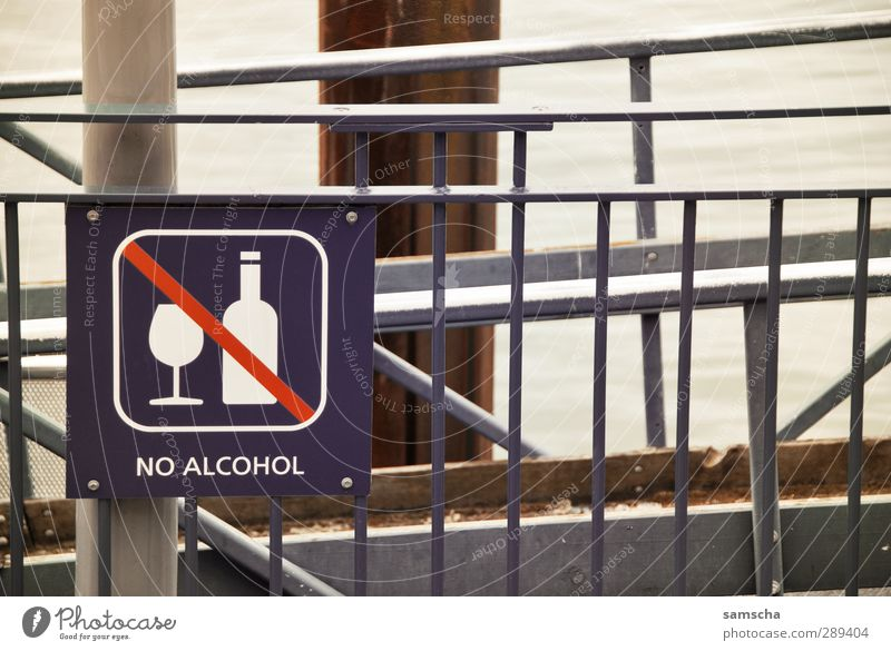no alcohol Stadt Gesundheit Schilder & Markierungen Getränk Hinweisschild Zeichen trinken Wein Hafen Bier Alkohol Alkoholisiert Cocktail Verbote Sucht Sekt