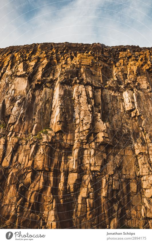 Felswand am Arthur's Seat in Edinburgh, Schottland Himmel Ferien & Urlaub & Reisen Natur Reisefotografie Berge u. Gebirge Tourismus Freiheit Stein braun Felsen